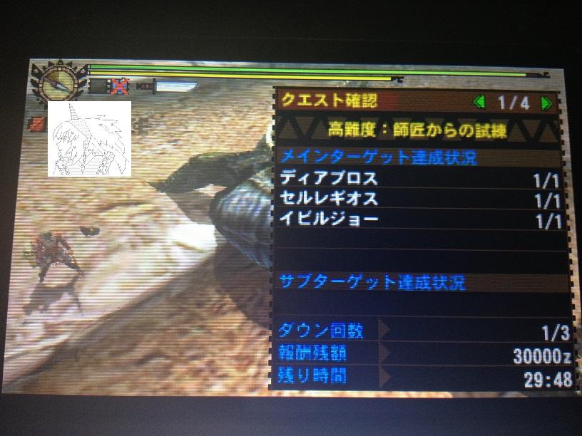 【MH4G】村最終「師匠からの試練」の攻略ポイント&感想。このクエストをクリアするために!