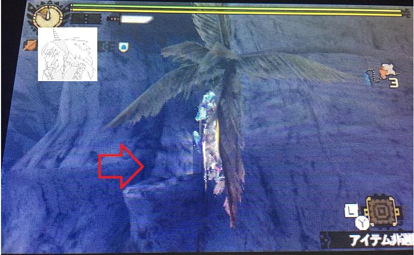 【MH4G豆知識シリーズ】旧砂漠<夜>、ツタ渡りの先にショートカットが存在した!【画像で説明】