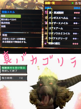 【MH4G】ウカウカウ、ドクドミ等に対抗!?『真バカゴリラ』装備!!【金獅子様投稿】