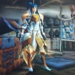 MHX見た目装備・女|お気に入りの武器にカラーリングを合わせて!『北風の騎士』【しゅが様投稿】