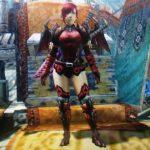 MHX見た目装備・女|メイルオブアナトと黒炎王脚の組み合わせが可愛い、『悪魔で戦士DEATH❤︎』【naaasan様投稿】