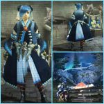 MHX見た目装備・女|紺色と水色の組み合わせが綺麗な、『霧の民族』【K様投稿】