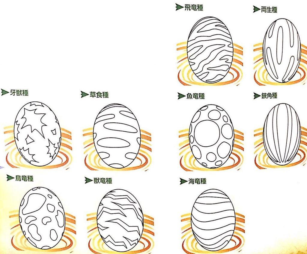 オトモンのタマゴ柄の見分け方